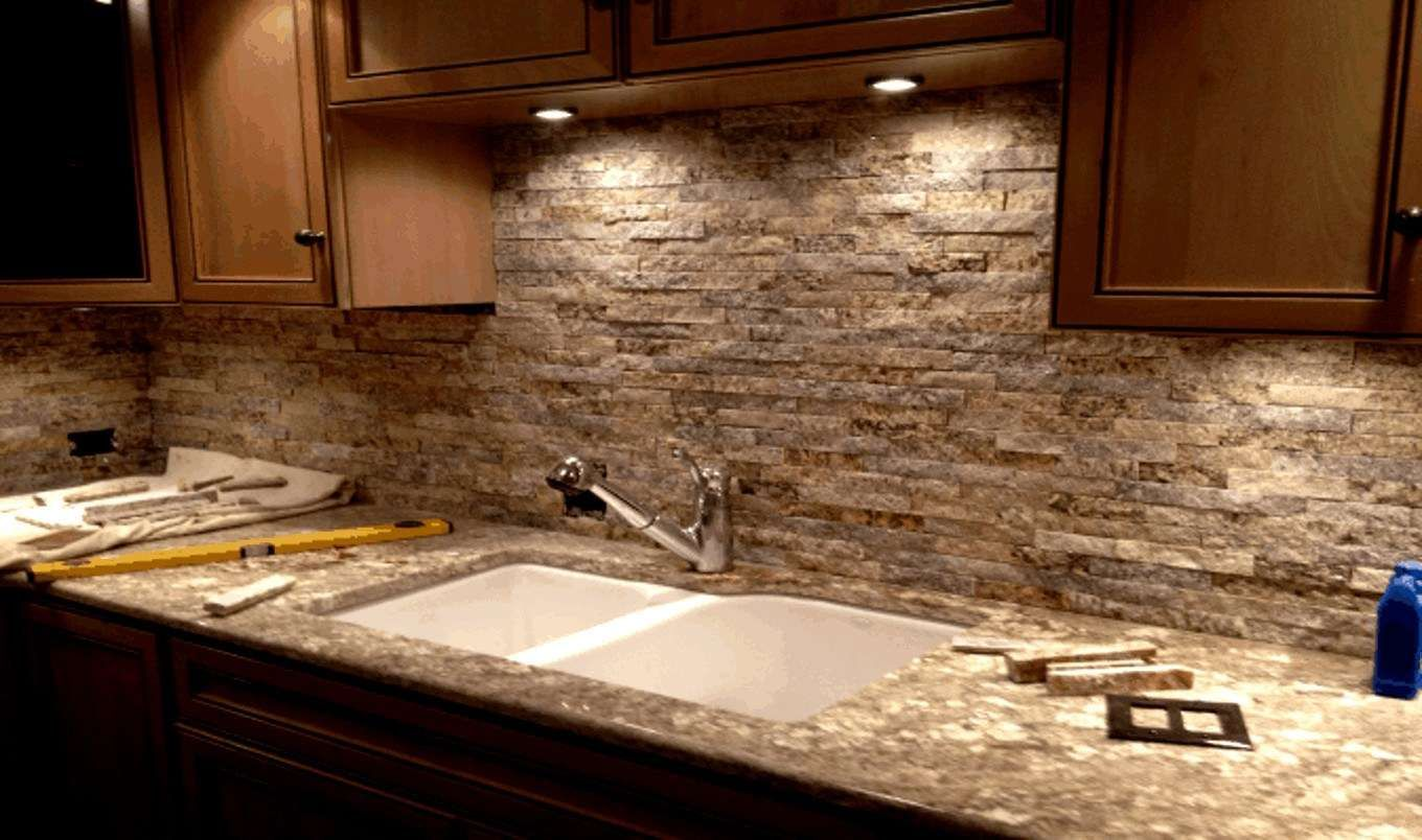 30 Stone Kitchen Backsplash Kitchen And Small Bath Stacked