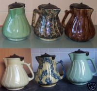 Retro Vintage Ceramic Electric Jugs W Bakelite Lids Electric Jug Vintage Ceramic Stoneware Pottery