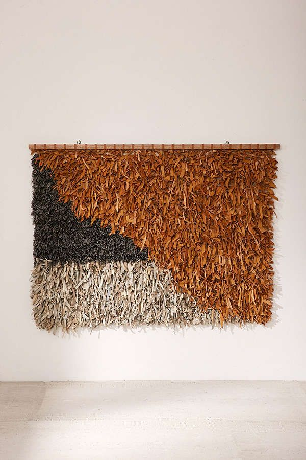 Neville Oversized Leather Shag Wall Hanging Wall Hanging