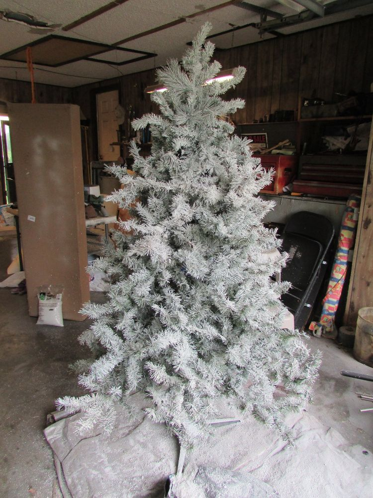 How To Flock A Christmas Tree... White flocked christmas