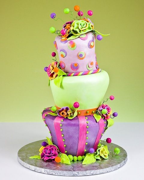I know this is for the Mad Hatter but I think this would be a great celebration cake at the end of our Willy Wonka play.
