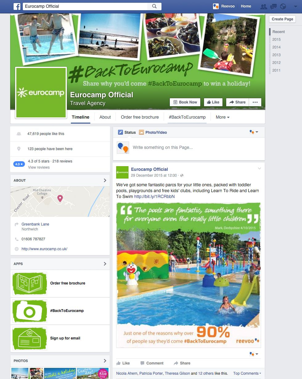 Reevoo On Eurocamp S Facebook Page With Images Win A Holiday