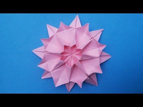 Dahlia Origami Paper Flower | New Hand Work | HandiWorks ... - photo#44