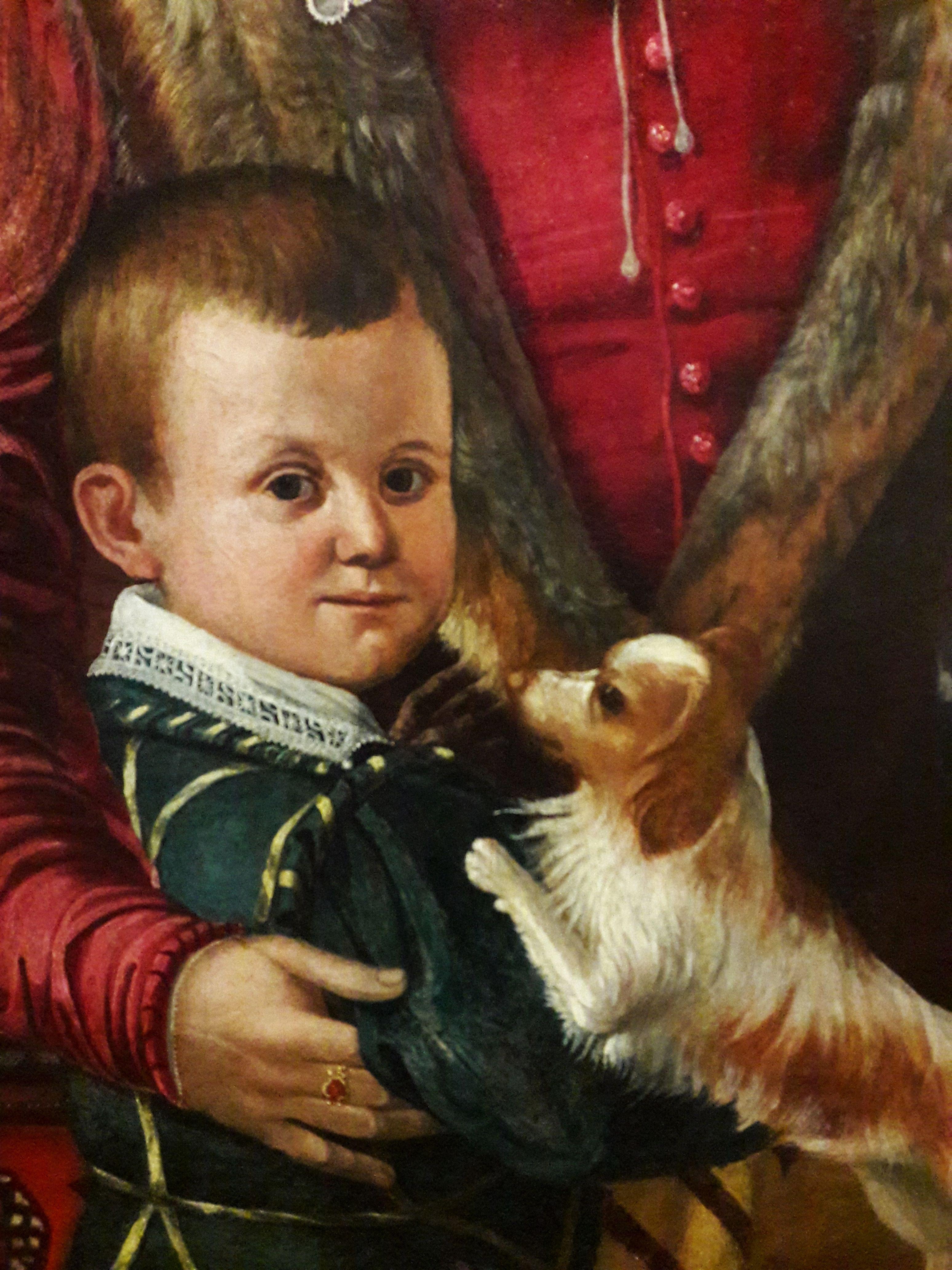 L' Empoli (1551-1640) - Ritratto della famiglia di Jacopo Chimenti, dettaglio - National Museum in Warsaw