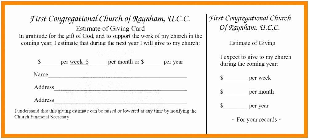 Free Pledge Card Template In 2020 Card Template Card Templates