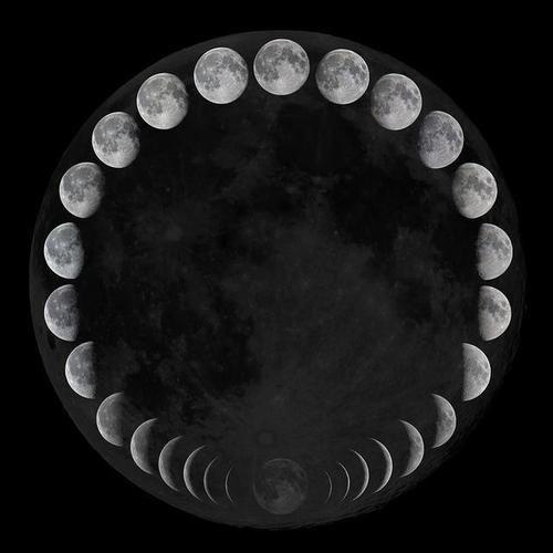 La luna y su interesante secuencia: de cuarto creciente a luna llena ...