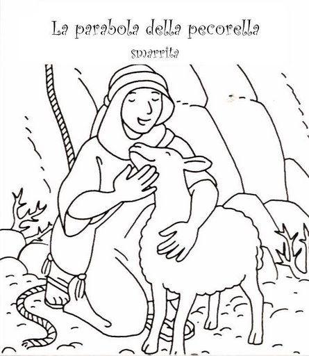 Parabola De La Oveja Perdida Para Colorear Jesus Para Colorear Paginas Para Colorear Parabolas De Jesus