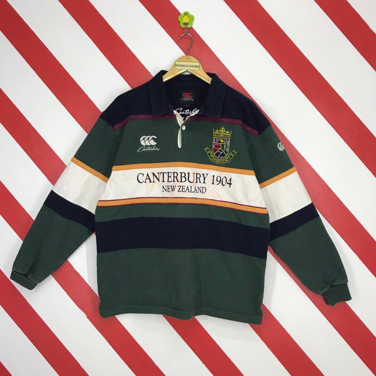 Vintage 90s Canterbury Sweatshirt New Zealand Rugby