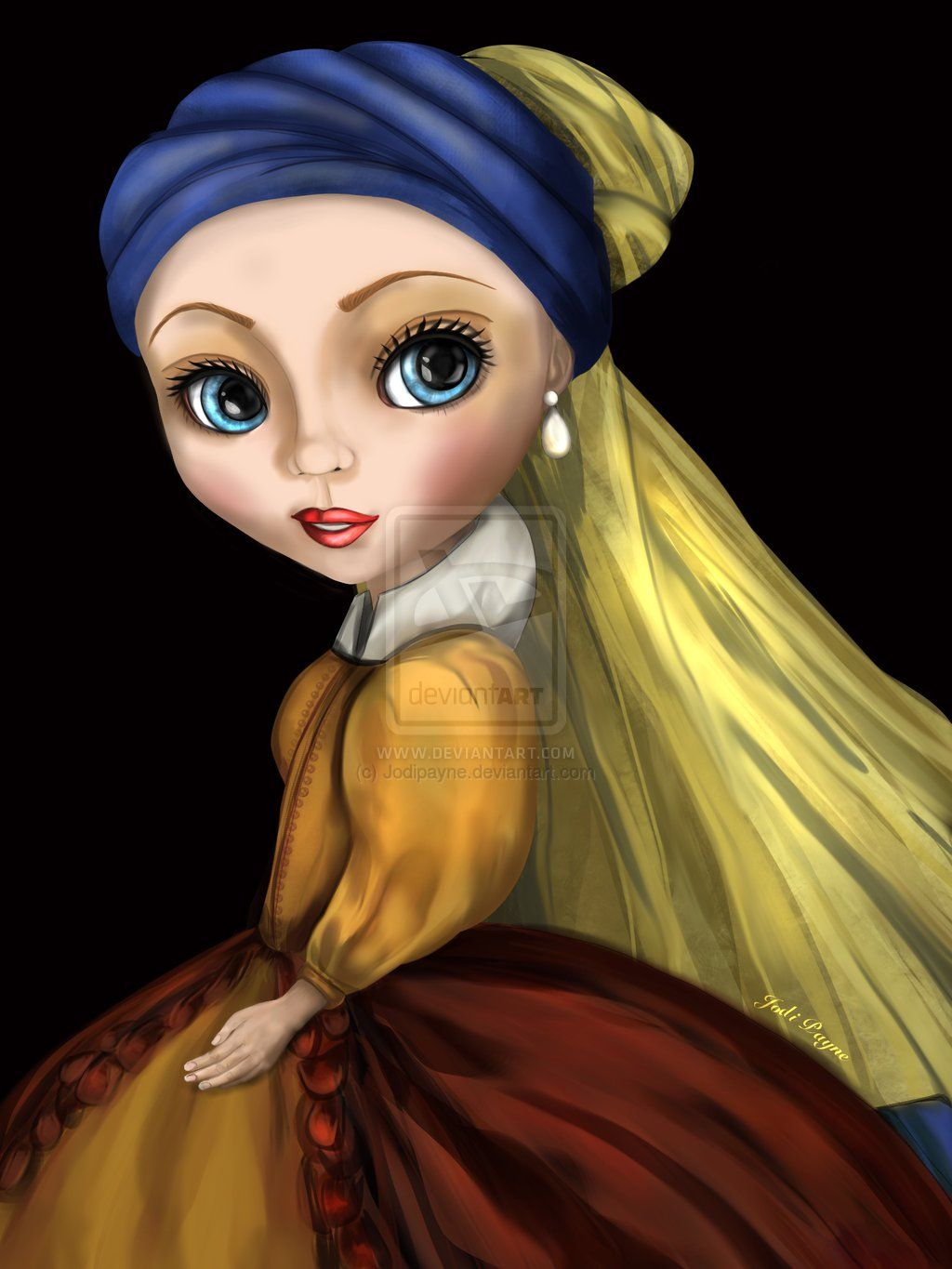 Das Mädchen Mit Dem Perlenohrring Gemälde Girl With A Pearl Earring By Jodipayne Deviantart On