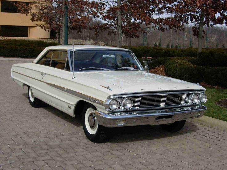 1964 Ford Galaxie 500 White 2 Door Hardtop Ford Galaxie 500