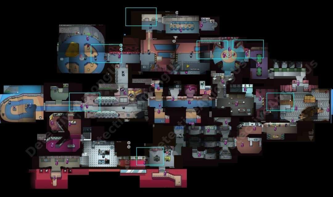 Among Us The Airship Map Coming Soon Map Layout Map Airship