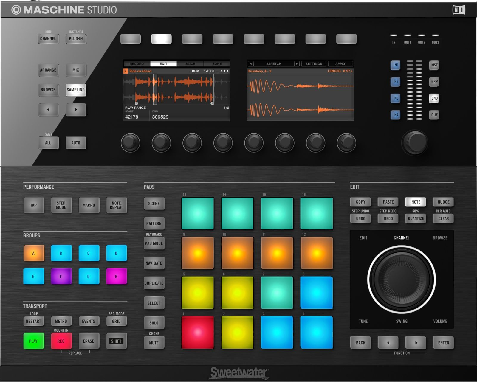 Native Instruments Maschine Mk3 Production And Performance System With Komplete 12 Select Native Instruments Dj Equipment Instruments