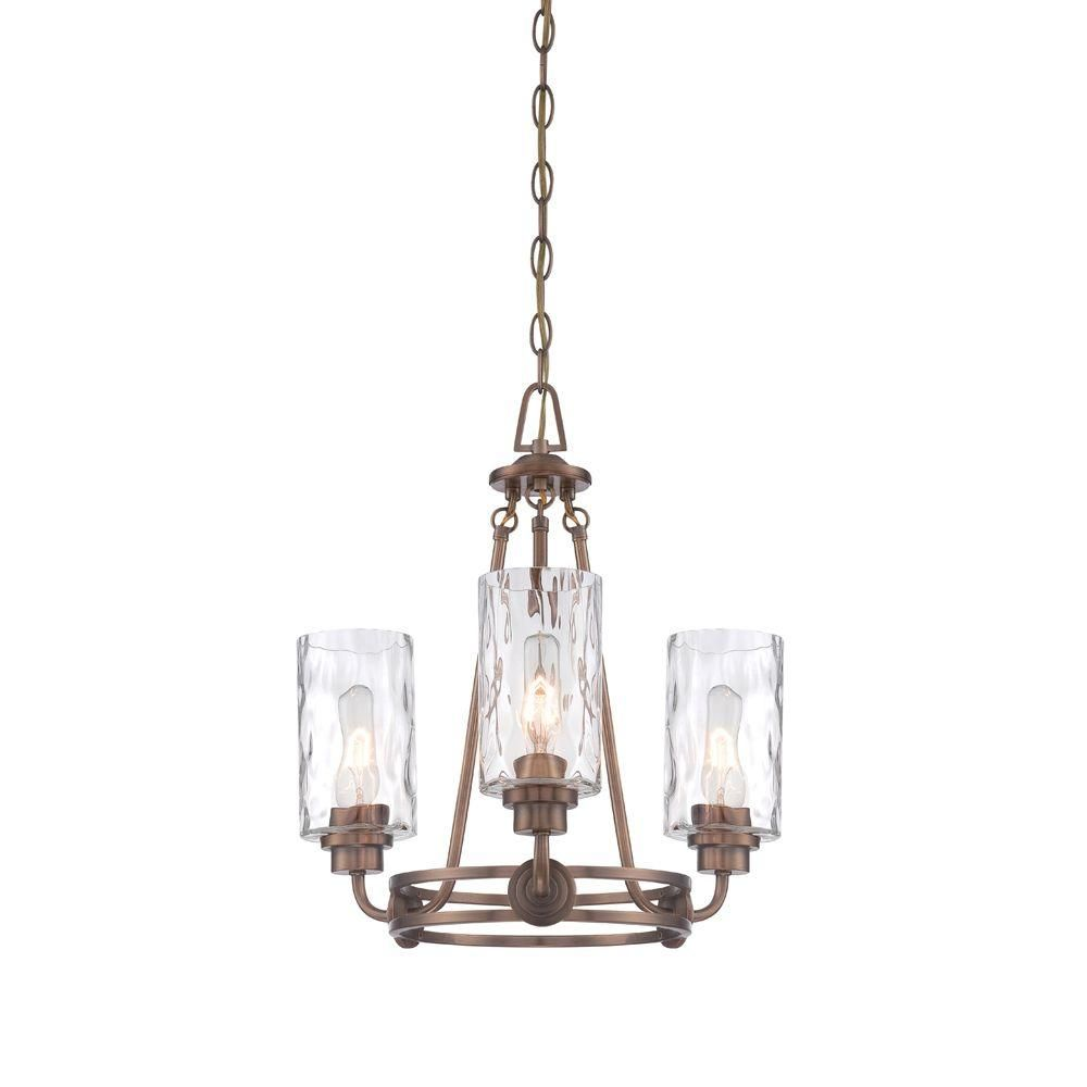 Designers Fountain Gramercy Park 3-Light Old Satin Brass Interior Incandescent Chandelier