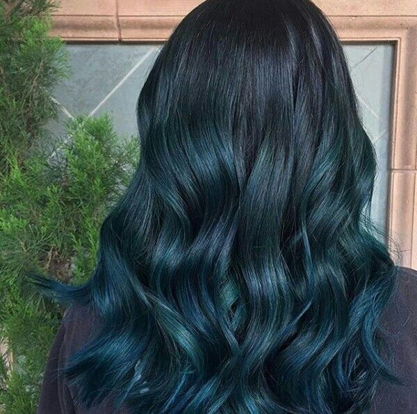 Dark Cyber Teal Blue Green Hair Color Temporary Hair Dye Teal