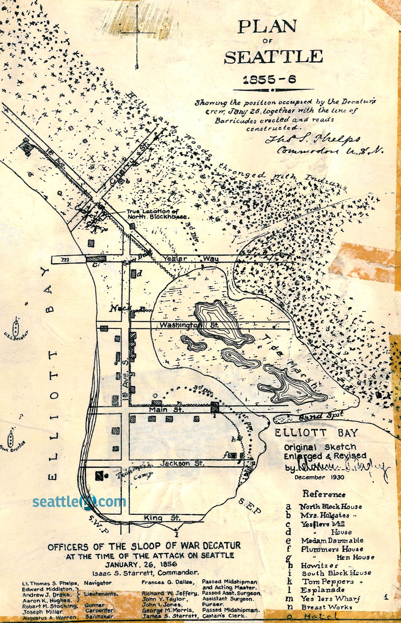 PI archives Map of Seattle in 1856  Seattle History and