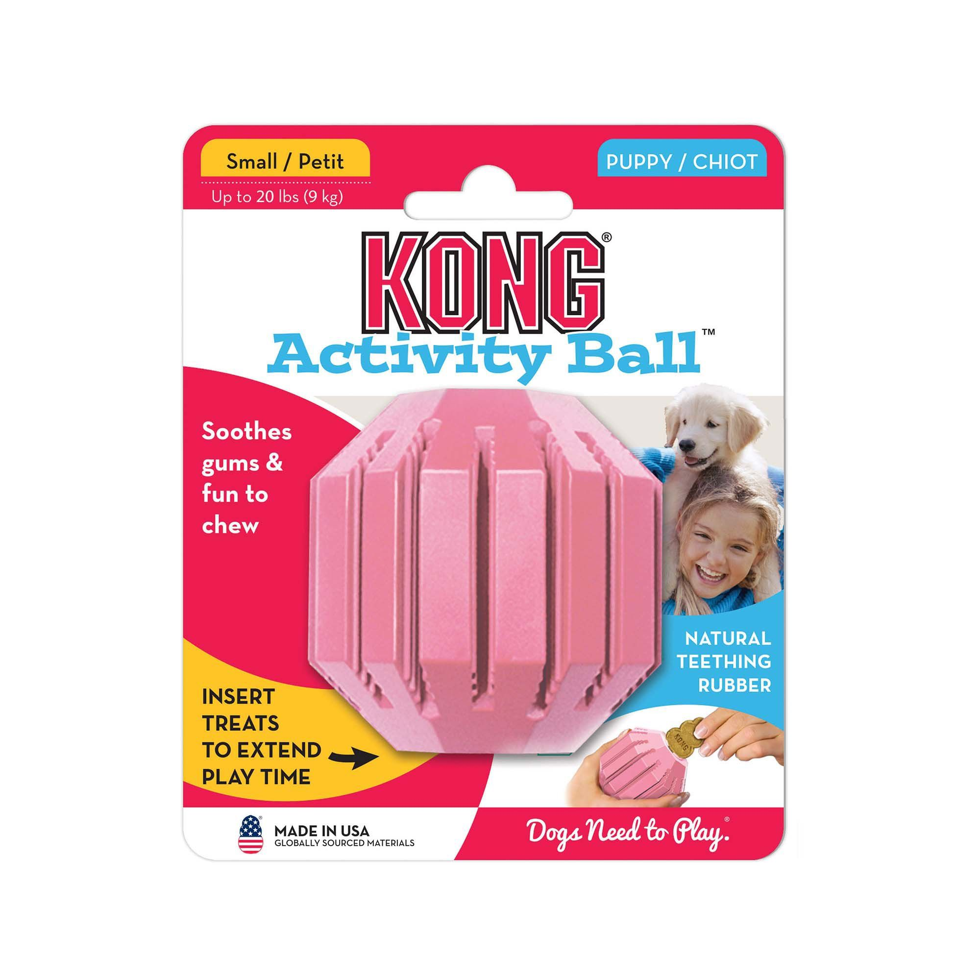 Kong Puppy Activity Ball Dog Toy Small Toy Puppies Smart Dog