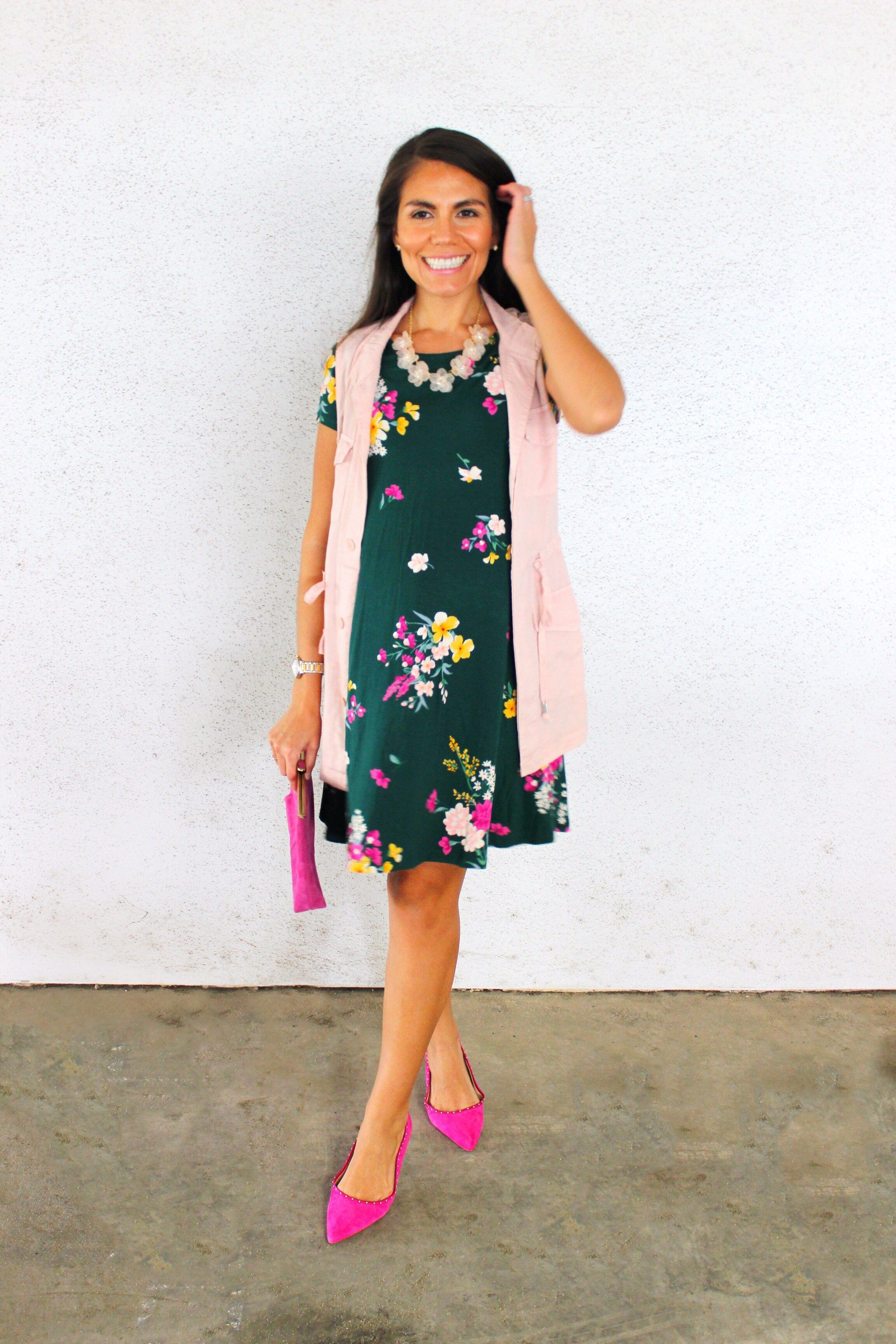 7f95ba2751 Lovely in Green Floral Dress: Old Navy Try-On Session | Lovely in Pink:  Fashion | Pinterest | Green floral dress, Pink fashion and Navy
