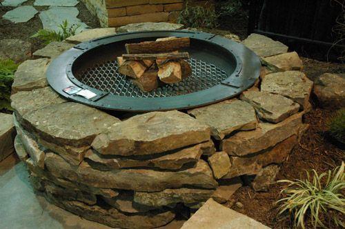 James Creek 4 x 8 Wall Stone Fire Pit (or Moss Fieldstone ...