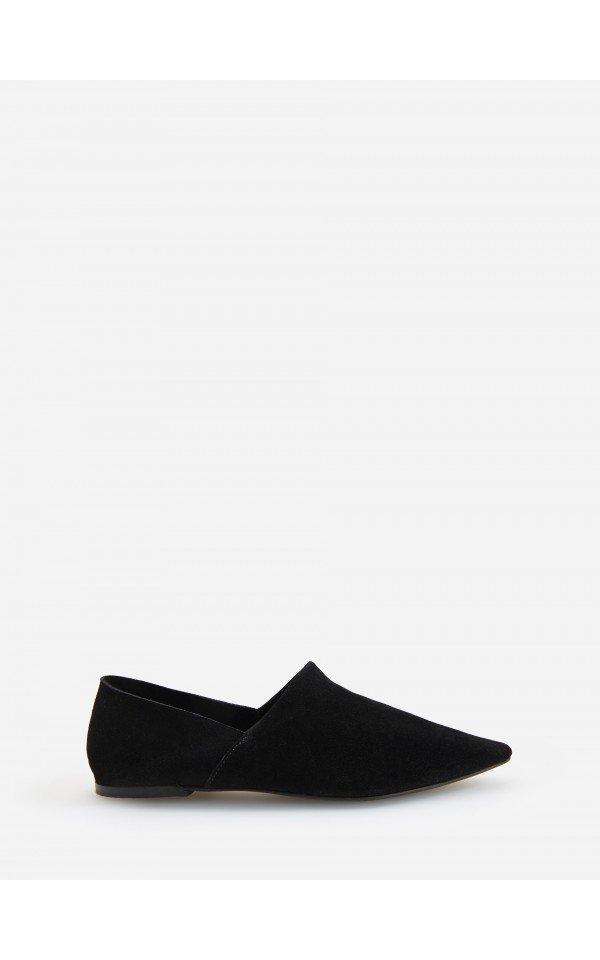Plaskie Zamszowe Buty Buty Czarny Reserved Shoes Mule Shoe Slippers