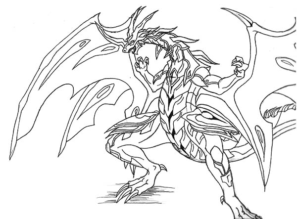 Bakug Bakugan New Drago Coloring Pages Bulk Color Coloring Pages Character Art Color