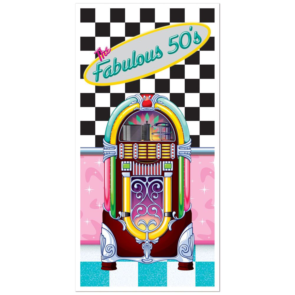 Fabulous 50/'s 9 Inch Paper Plates 8 Pack Jukebox Pink Turquoise Sock Hop Diner