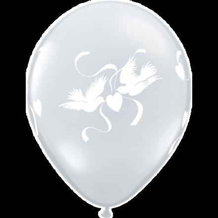 Luftballons Hochzeit Tauben Kristall Durchsichtig O 28 Cm Qualatex 5 Stuck Luftballons Hochzeit Luftballons Durchsichtige Ballons