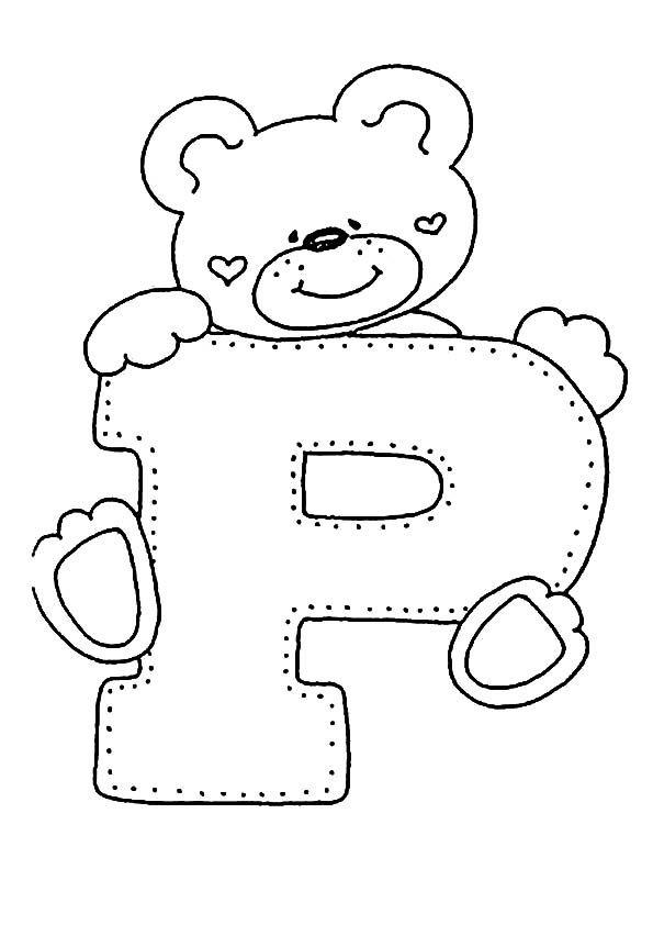 Buchstaben P Ausmalbilder Und Malvorlagen Stickerei Alphabet Buchstaben Schablone Ausmalbilder