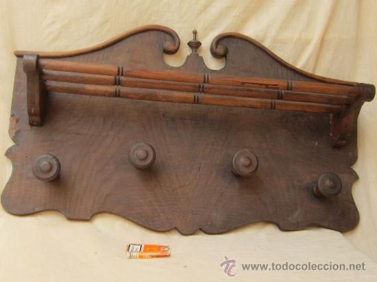 Perchero de pared en madera products i fancy pinterest - Perchero madera pared ...