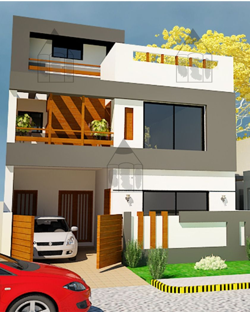 Home Design Exterior Ideas In India: 5 Marla House Front Design - Gharplans