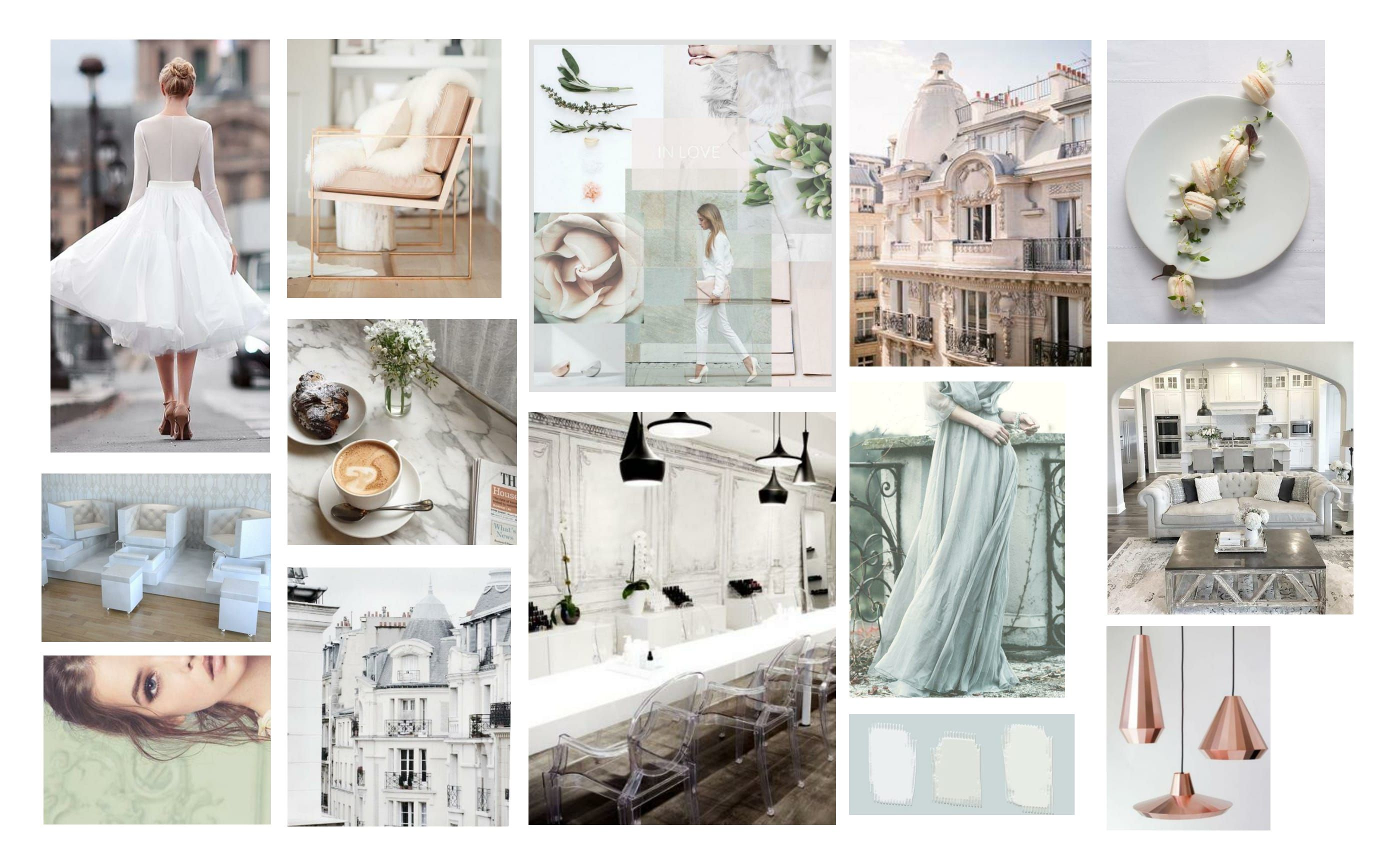 Parisian Chic & Classic Mood Board For A Beauty Industry