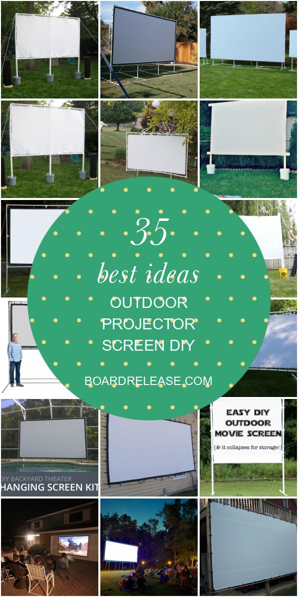Photo of 35 meilleures idées d'écran de projecteur extérieur Diy
