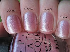 OPI Princesses Rule - love this polish for one coat when rushed and seeking a clean look. The subtle shimmer hides versus accentuates imperfections unlike many of the non-iridescent sheer nude shades.