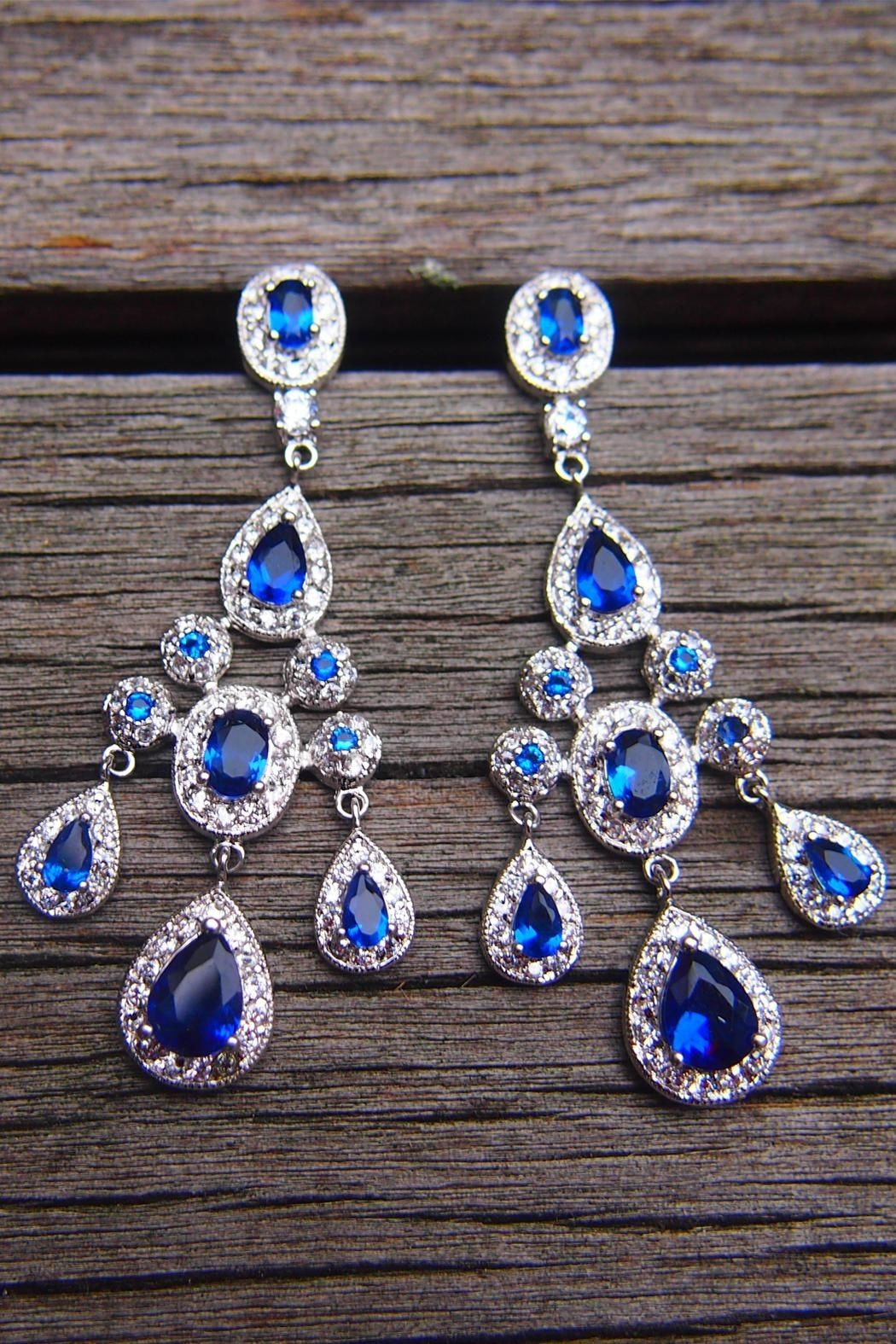 8b16a521bc3432 Wild Lilies Jewelry Sapphire Chandelier Earrings from Philadelphia by Wild  Lilies Jewelry — Shoptiques
