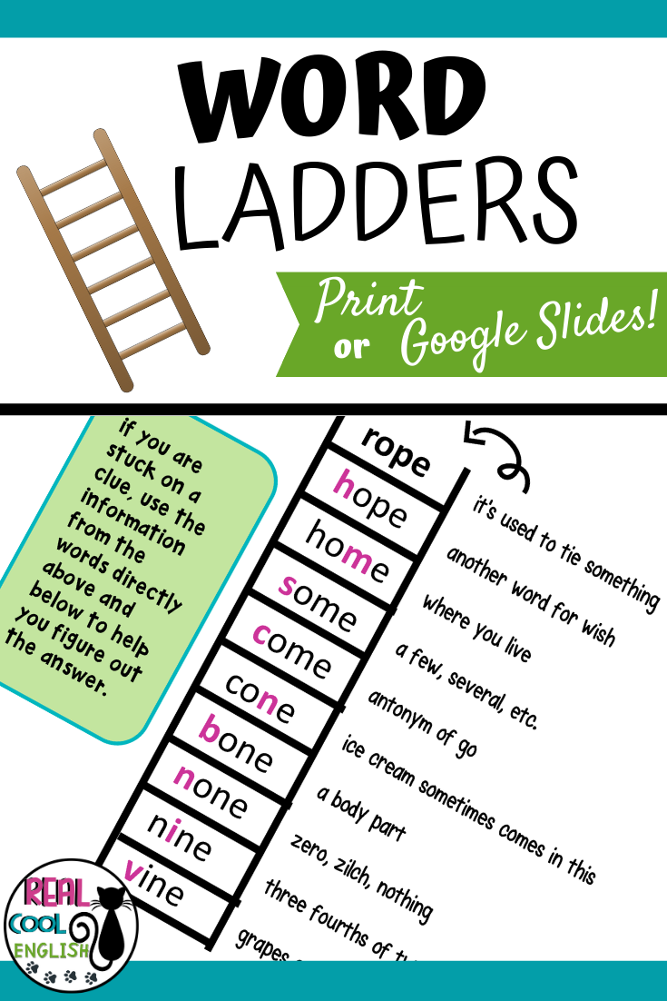 hight resolution of Word Ladders   Spelling and Vocabulary Puzzles   Guided reading lessons  kindergarten