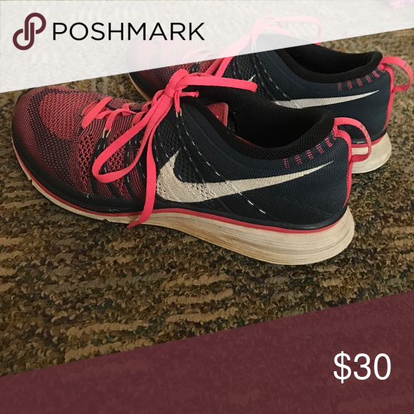 31f6e0942865 Nike flyknit trainers Pink navy Nike flyknit trainers Nike Shoes Athletic  Shoes