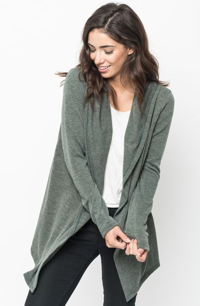 Olive hooded cardigan  http://www.caralase.com/hooded-cardigan/