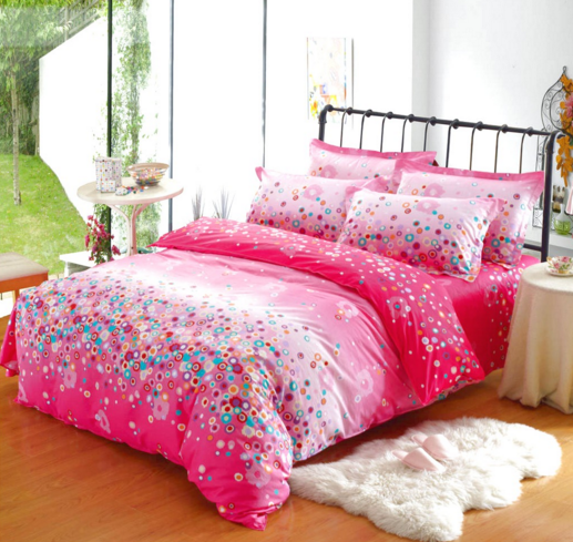 Twin Bedspread Sets Full Red And Pink Colors Bedroom Comforter