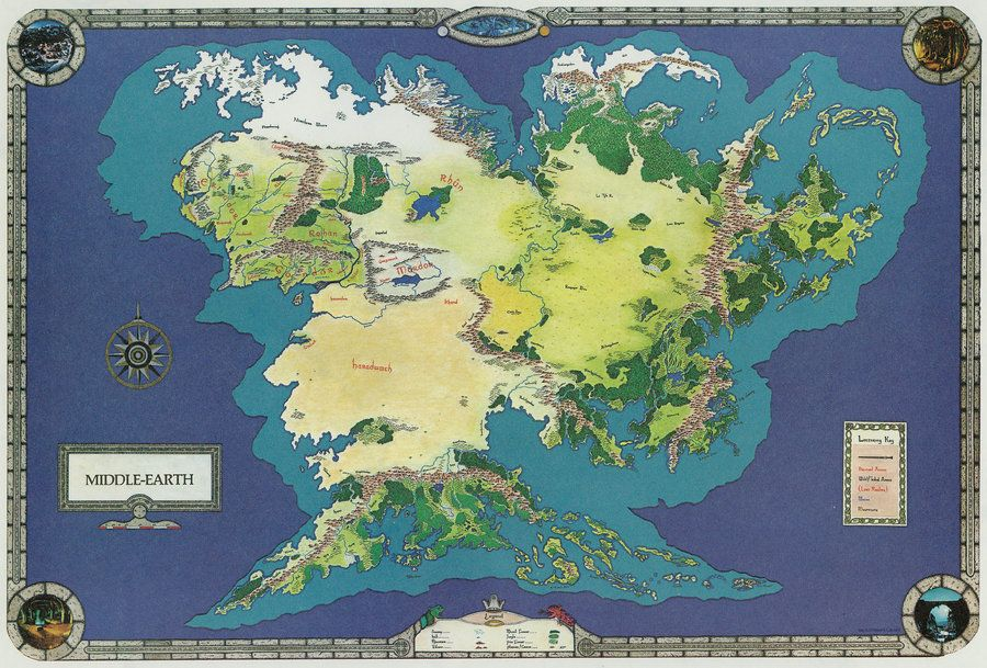 Middle earth world map _ 2 by spicedwinefanfic.deviantart.on