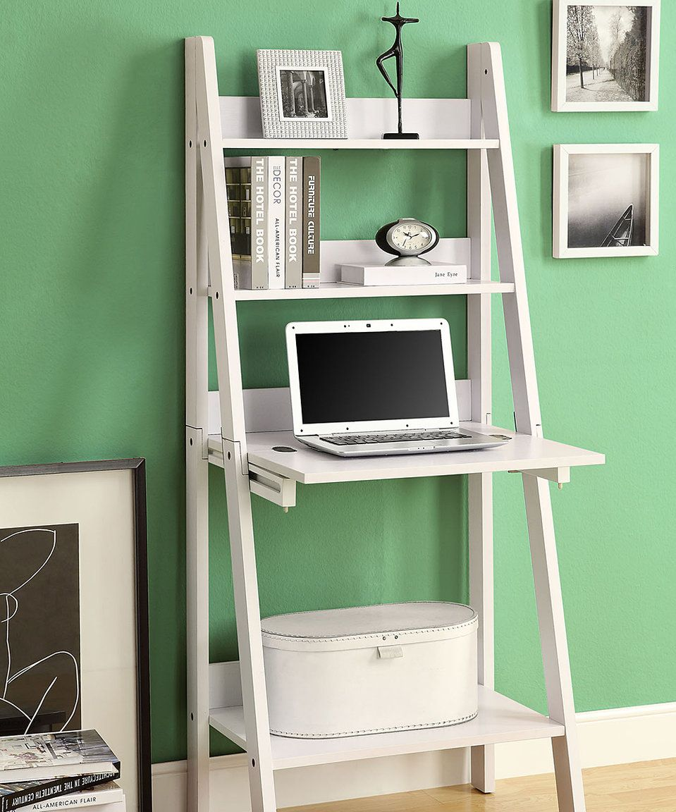 Take A Look At This White Ladder Leaning Desk Today