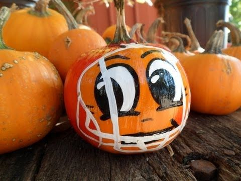 Halloween pumpkin decorating is a great way to celebrate this fun and spooky holiday. Instead of carving your Halloween pumpkin try your hand at painting ... & How to Paint a Football Player on a Pumpkin - Pumpkin Painting ...