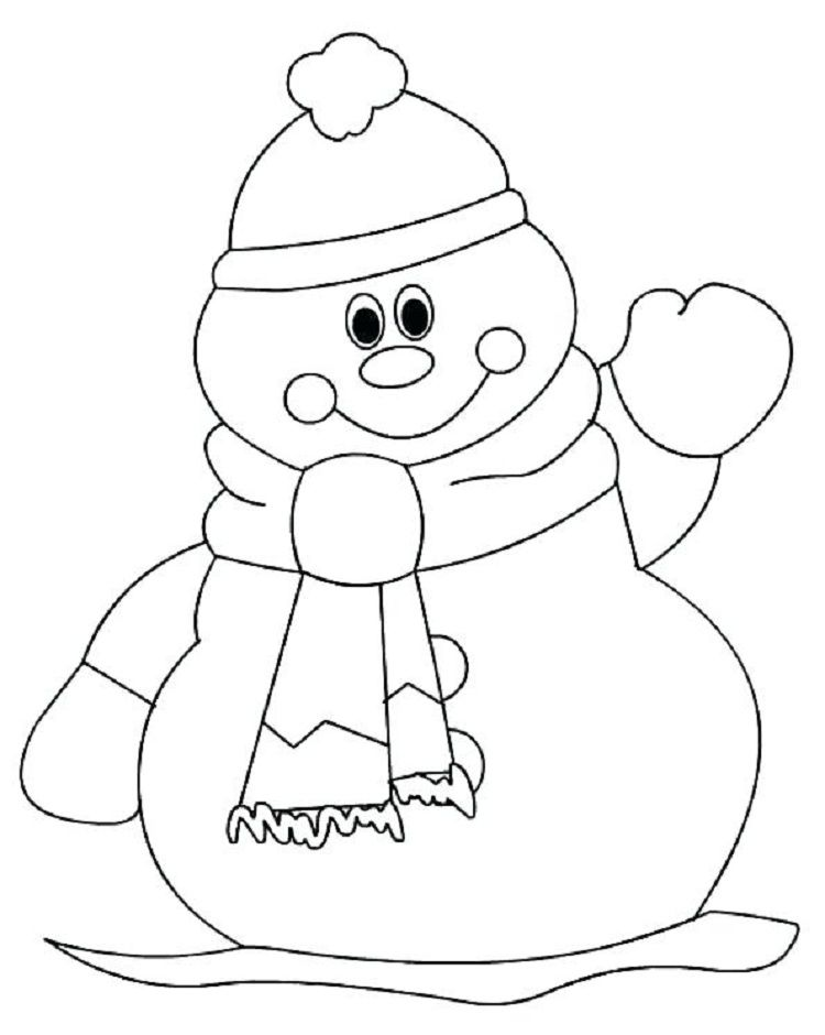 cute snowman coloring pages Coloring