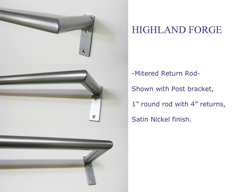 Mitered Return Rods Drapery Hardware Window Coverings Custom