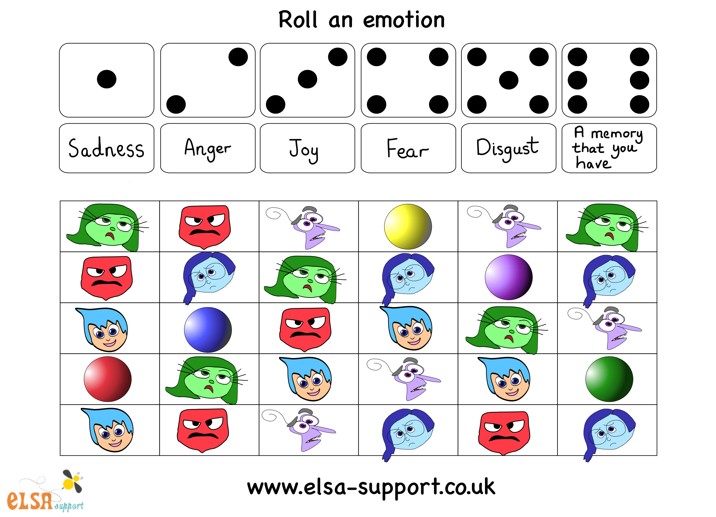 Matchup Inside Out Emotions Worksheet | Printable Worksheets and