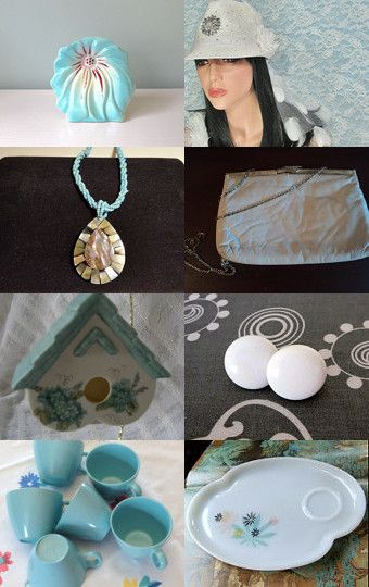 Summertime Blues from Team Vintage Vertigo by Gayle Sowell on Etsy--Pinned with TreasuryPin.com