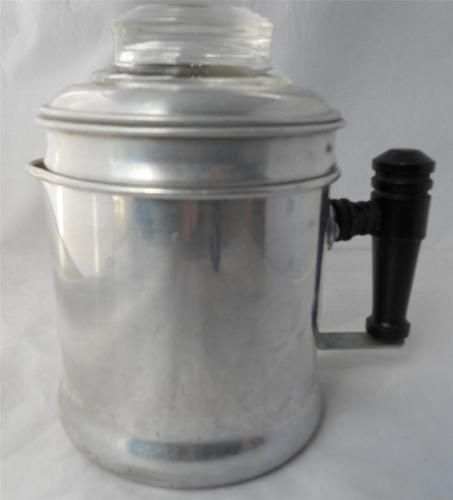Vintage Small Aluminum Coffee Pot Percolator 2 Cup Stove Top