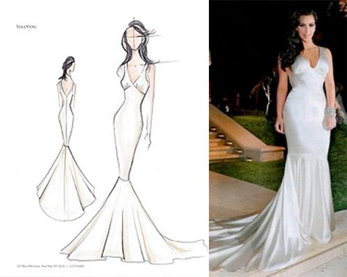 Kim Kardashian\'s Three Vera Wang Wedding Dresses | PreOwned Wedding ...