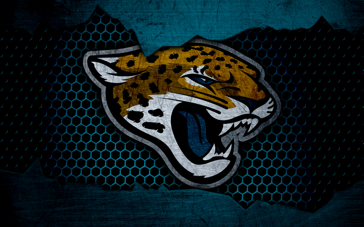 Download Wallpapers Jacksonville Jaguars, 4k, Logo, NFL, American Football,  AFC, USA, Grunge, Metal Texture, South Division