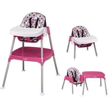 Evenflo Convertible High Chair Dottie Lime Image 1 Of 5