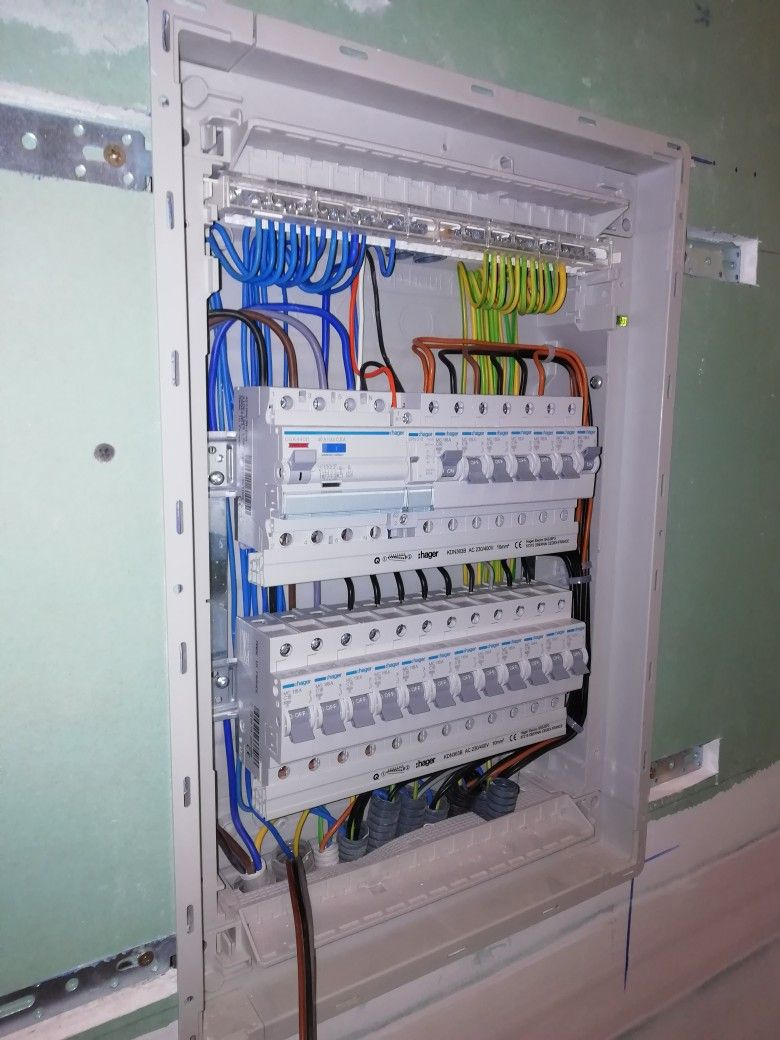 Distribution board Hager | My electrical work in 2019 ... on