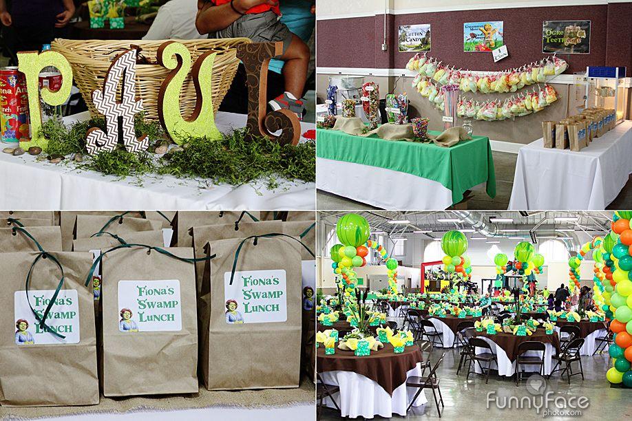 Shrek Party And Photo Booth Boy Birthday Parties 4th Birthday Parties Fairytale Party